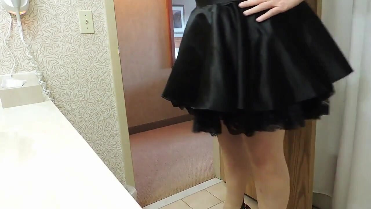 Sissy Ray in Purple Corset and Black Maids Skirt 2