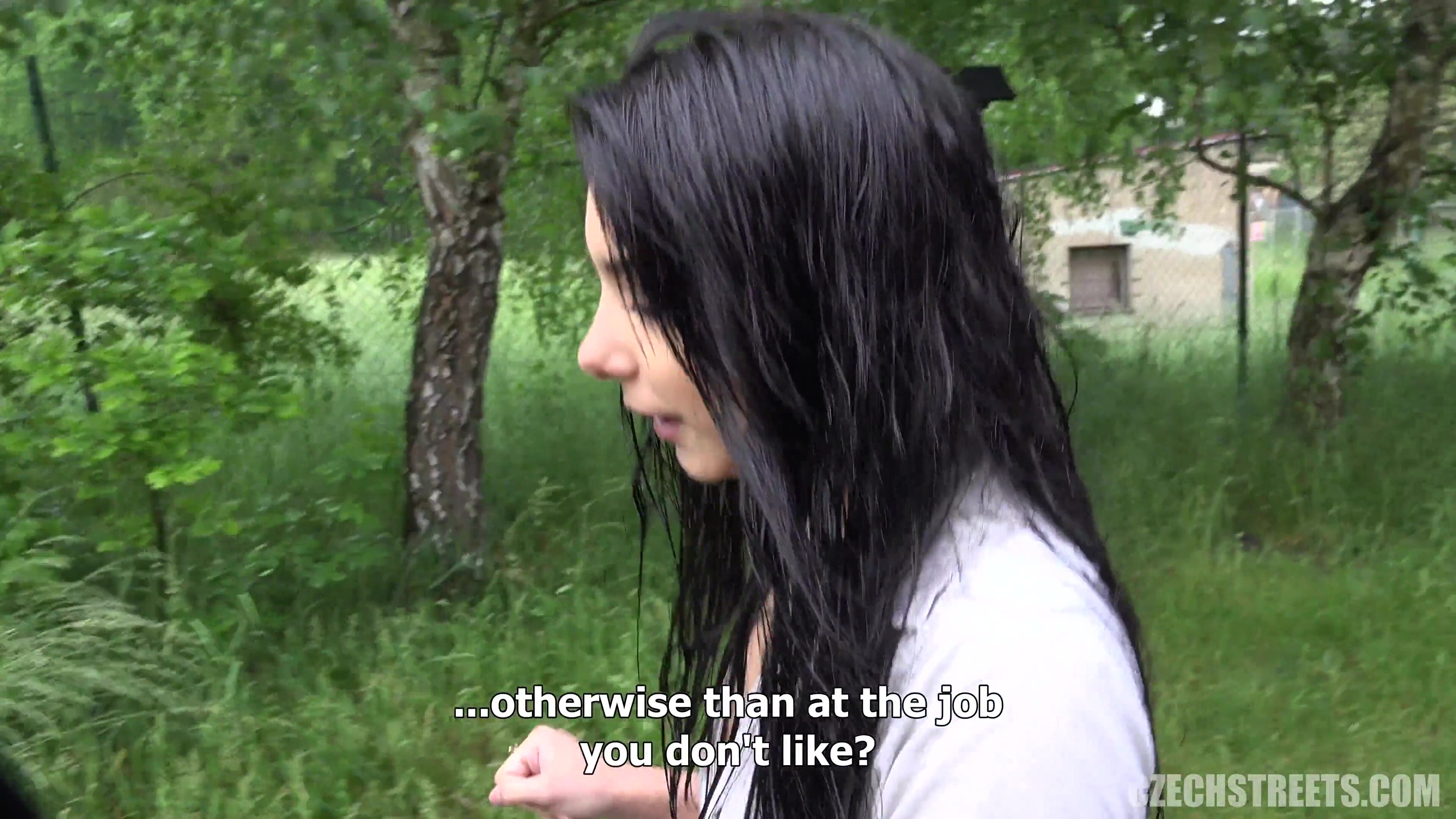 Silvia Fucking In The Woods For Money