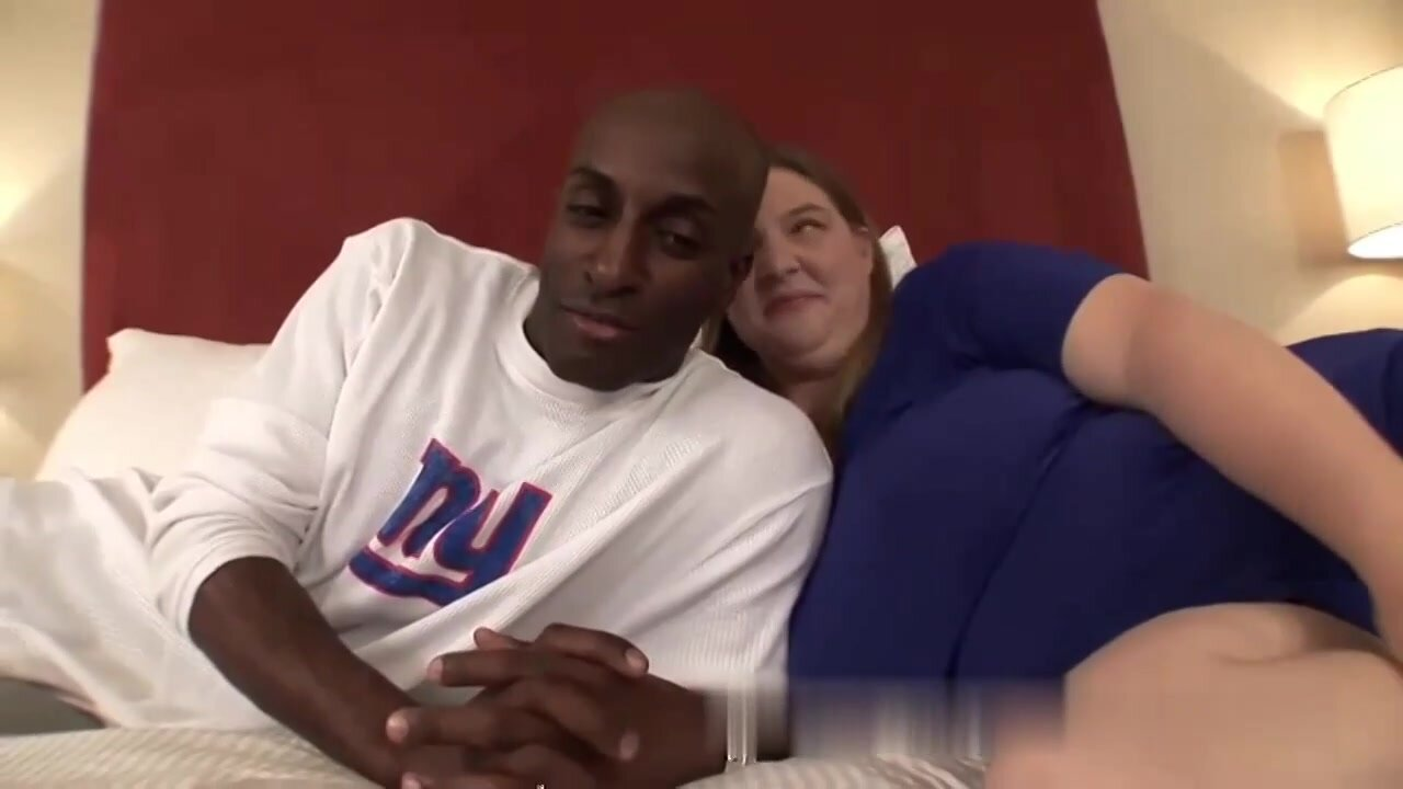 Black guy is fucking a chubby, blonde woman in many positions, to make her cum