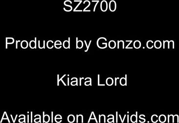 Kiara Lord first time to Gonzo for her first hardcore experience with Airtight DP