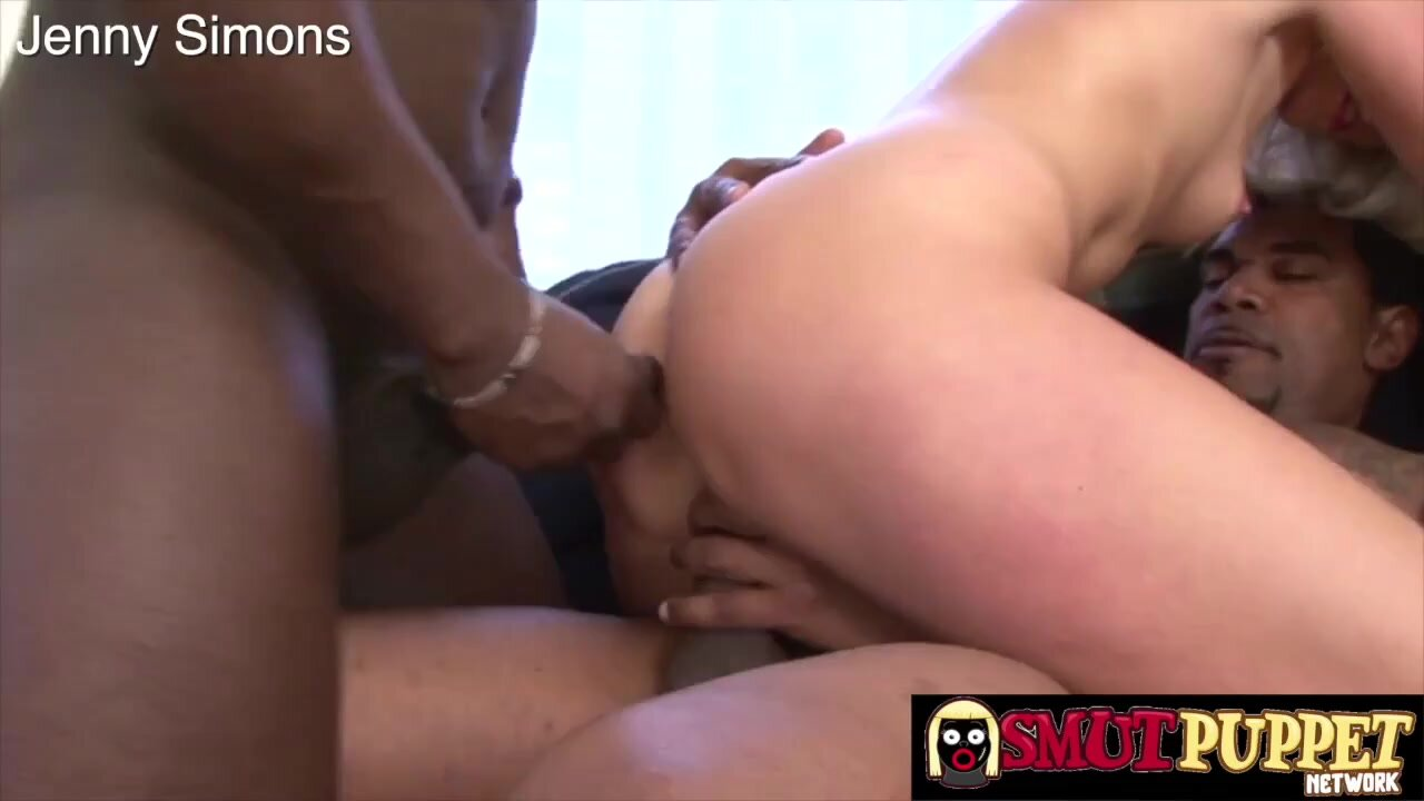 Many white bitches like to get gangbanged by a group of black guys, until they cum